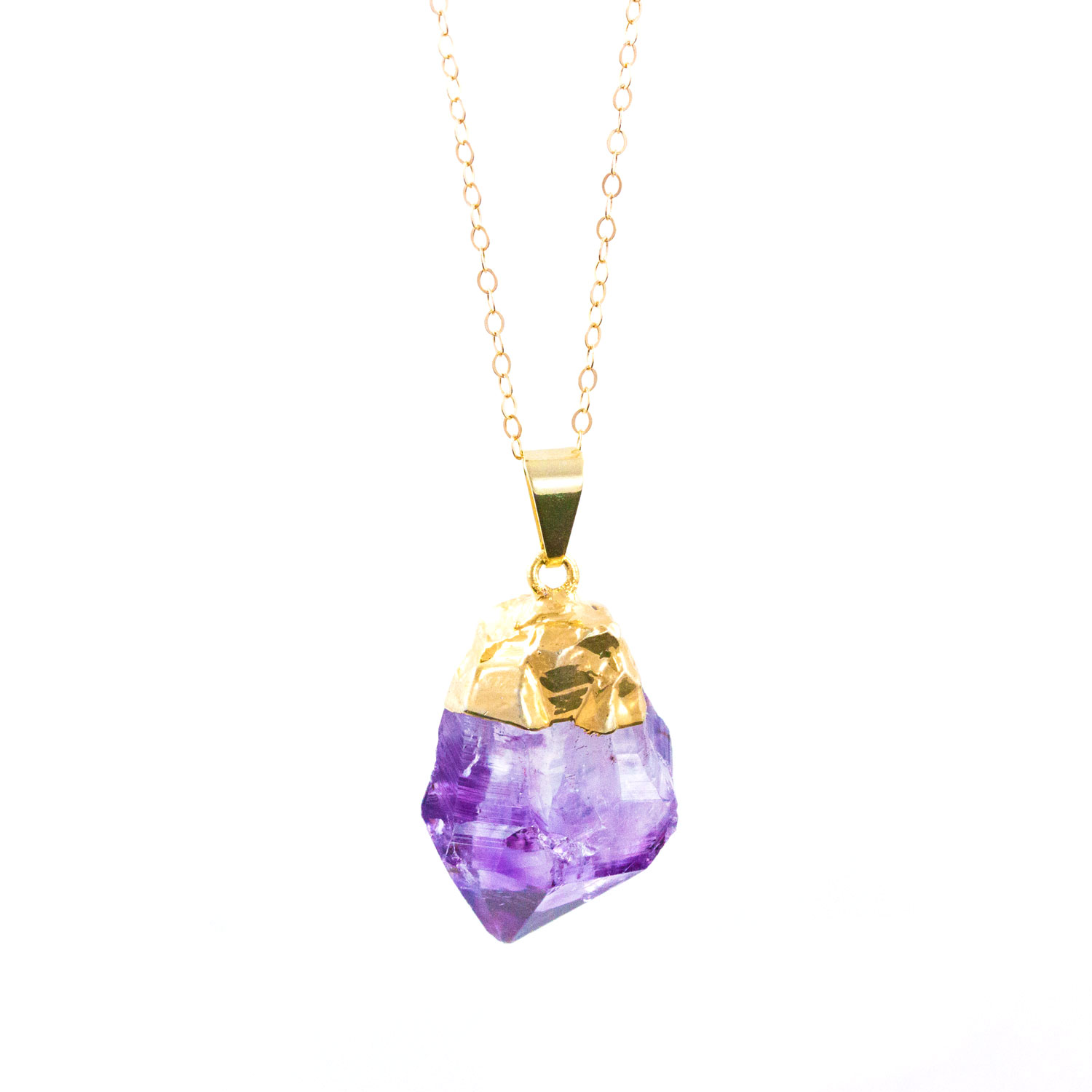 Gold & Purple Crystal Necklace