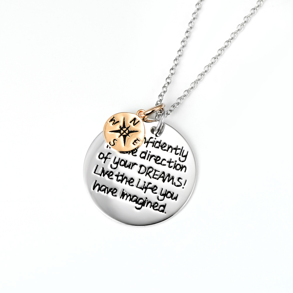 live the life you've imagined necklace
