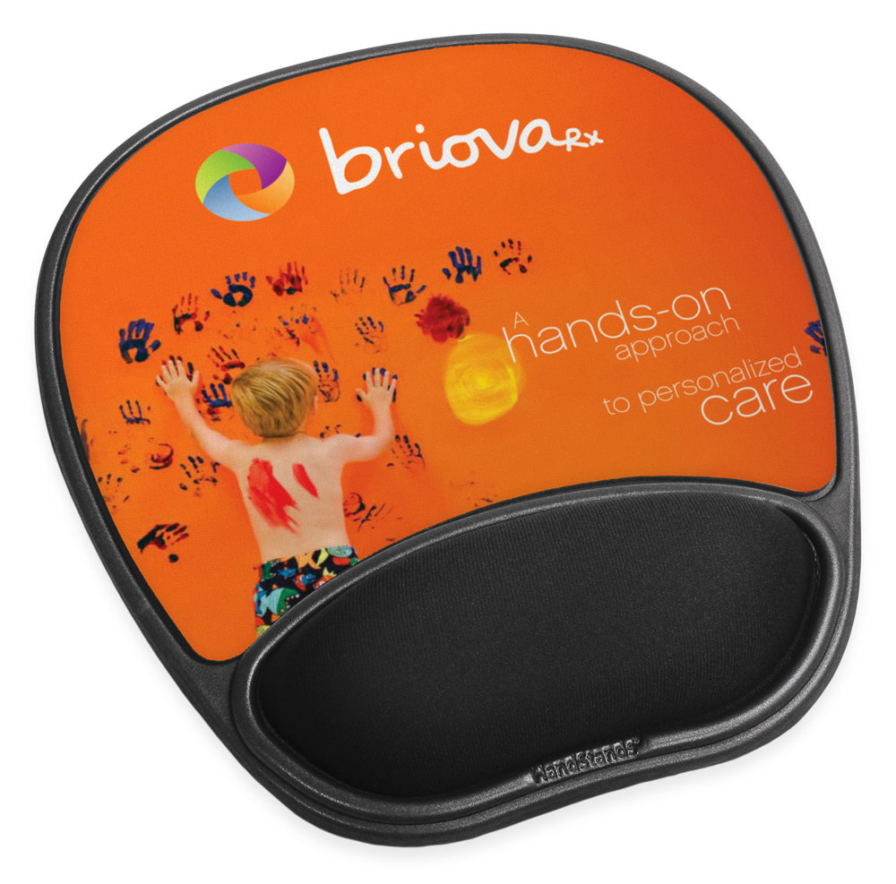 Mouse mat with wrist rest / Promotional product fully customized to your requirement UK Supplier