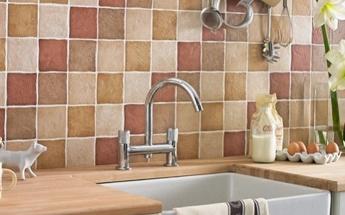 Ceramic Patterned Mosaic Wall Tiles 25 X 40 Cm