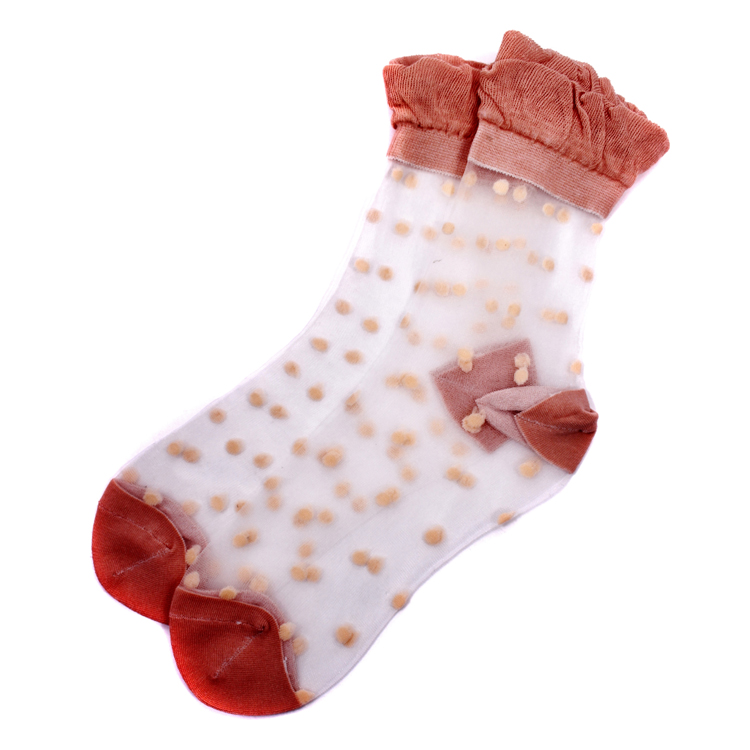 Lace Spotted Ankle Socks