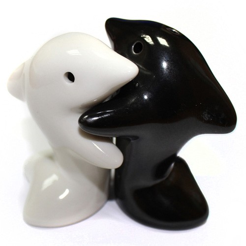 Dolphin salt and pepper pots set / Promotional product fully customized  to your requirement UK Supplier