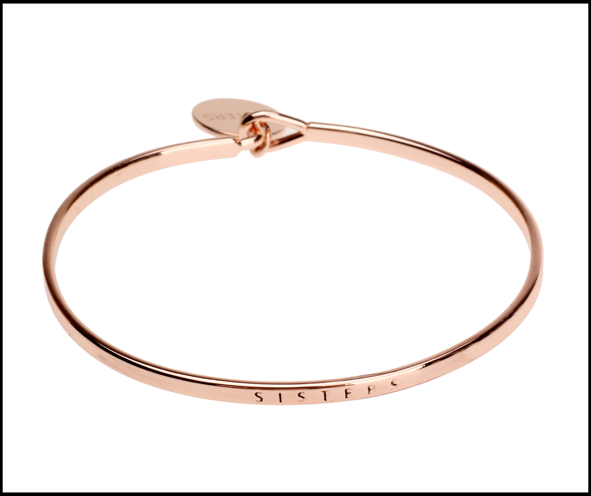 sister rose gold bangle
