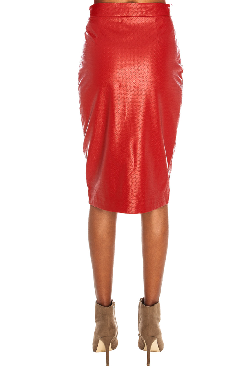 PU Skirt Back - Red