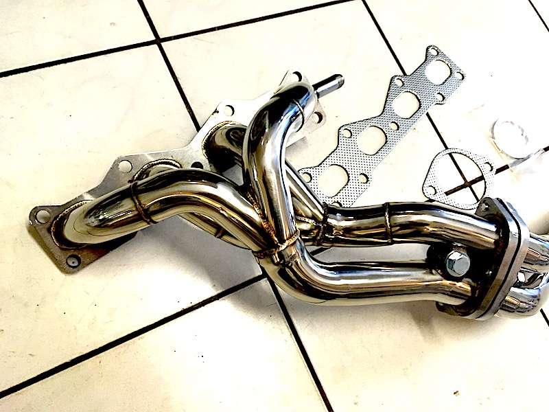 Stainless steel ?performance 4-branch exhaust manifold