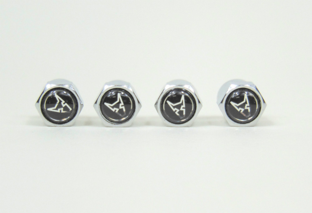 Chrome valve cap set