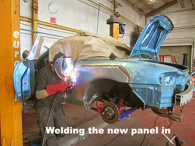 welding the new panel
