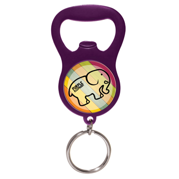 Jooma Dual Purpose Bottle Opener Keyring / Promotional product fully customized  to your requirement UK Supplier
