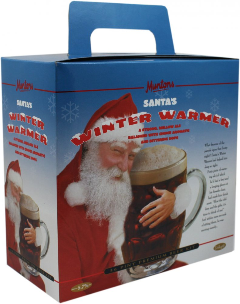 Muntons Santa's Winter Warmer 36 Pint 3.6kg Home Brew Beer Kit