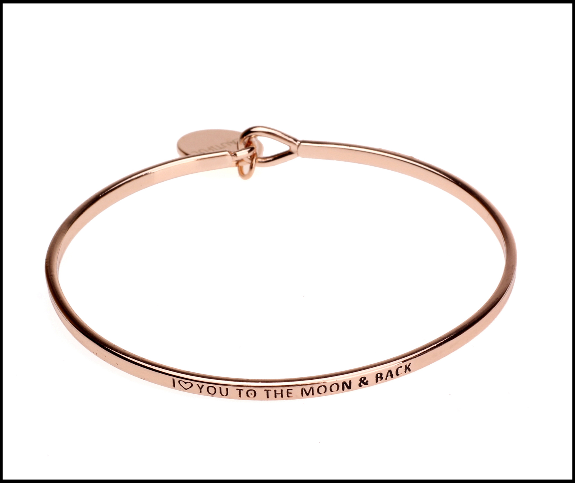 moon and back rose gold bangle