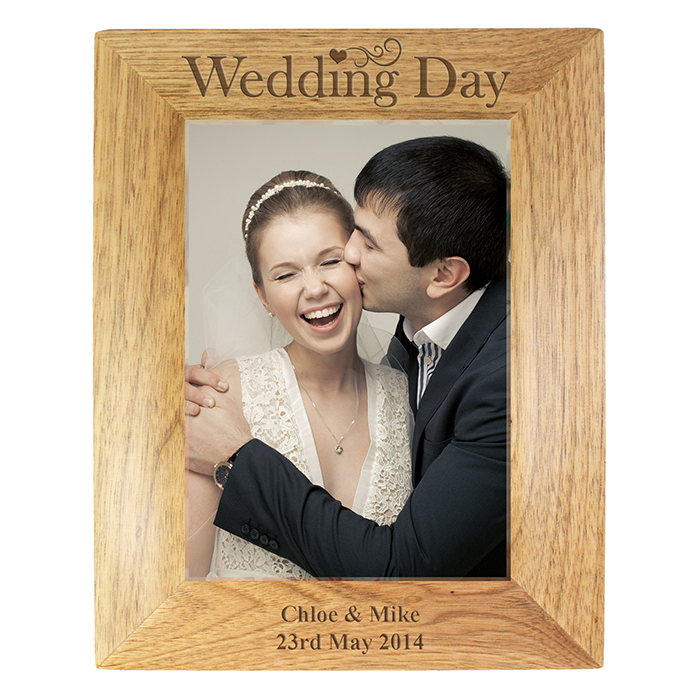 wedding day 5 x7 photo frame