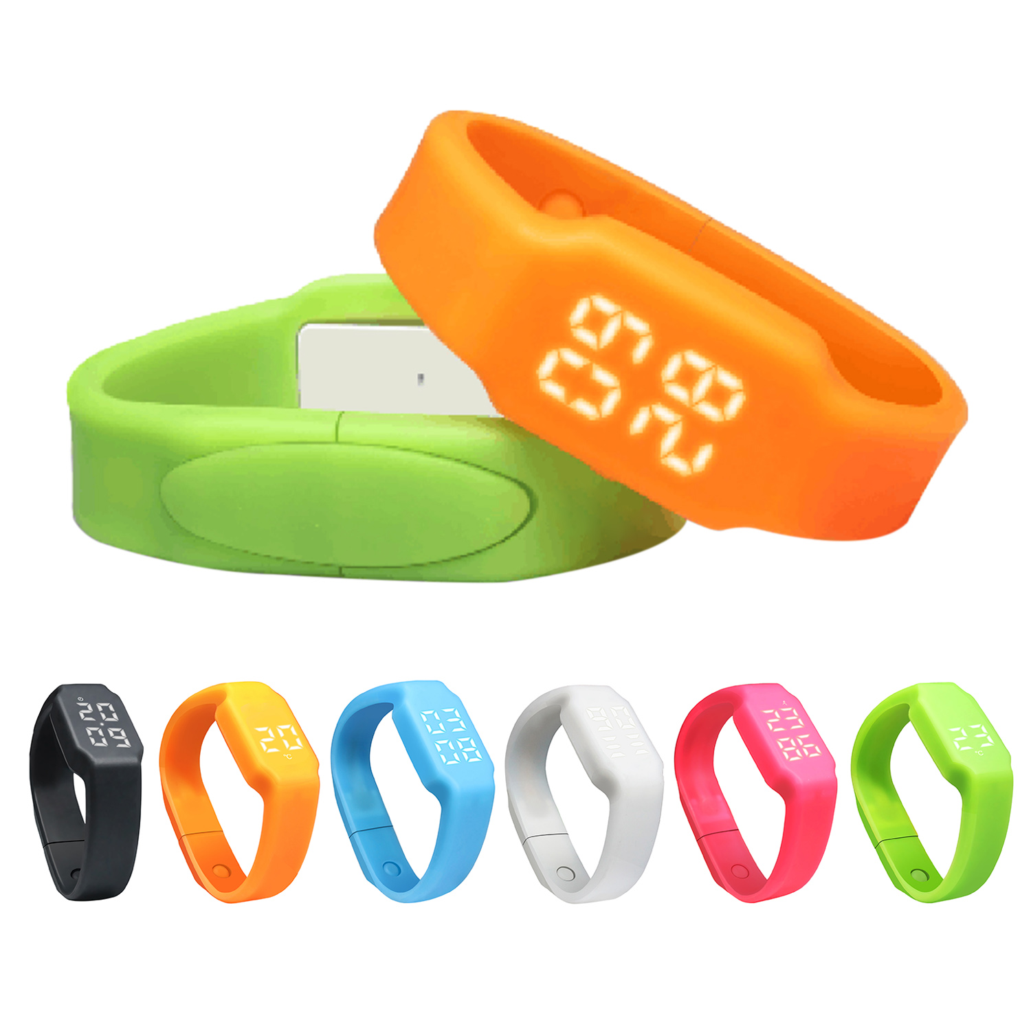 Silicone pedometer smart watch/ Promotional product fully customized  to your requirement UK Supplier
