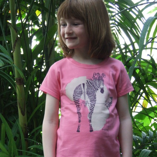 Animal Tails Zebra Organic Cotton Girls T-Shirt