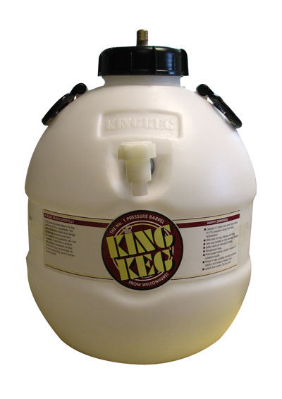 King Keg Top Tap 40 Pint Home Brew Beer Barrel