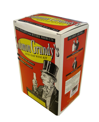 Solomon Grundy Medium Dry Red 30 Bottle Home Brew Wine Kit