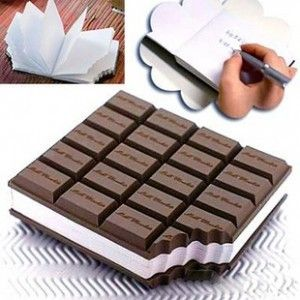 Chocolate bar style notepad / Promotional product fully customized  to your requirement UK Supplier