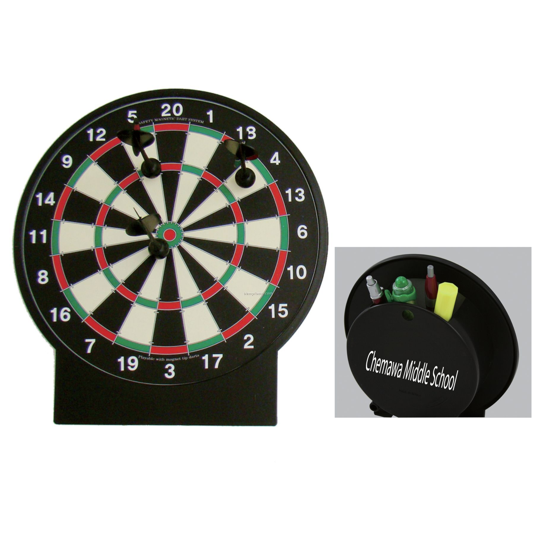 Dartboard  desk tidy / Promotional product fully customized  to your requirement UK Supplier