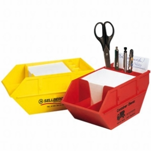 Skip shape desk tidy / Promotional product fully customized  to your requirement UK Supplier