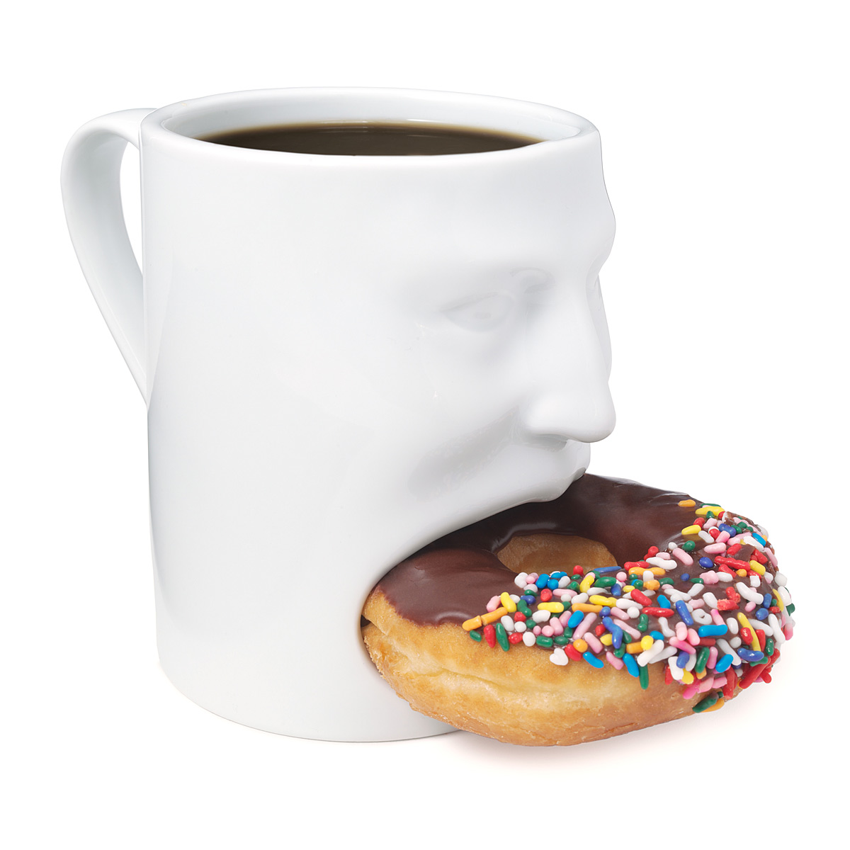 Tea / coffee mug face style with biscuit holder / Promotional product fully customized  to your requirement UK Supplier