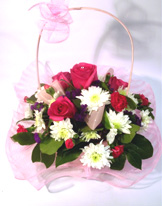 posie basket with glitter