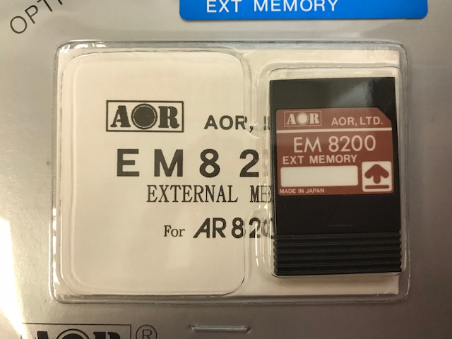 AOR EM-8200 External Memory Card for AR-8200-8200-S2