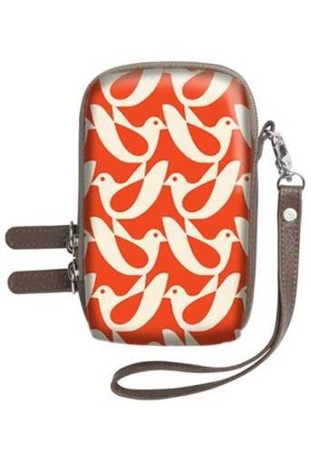 Orla Kiely Camera Case - Birdwatch Cream/Red