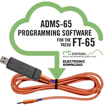 ADMS-65 Programming Software and USB-55 cable for FT-65 1