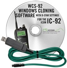 RT Systems Icom IC-E92D Software and USB Cable 1