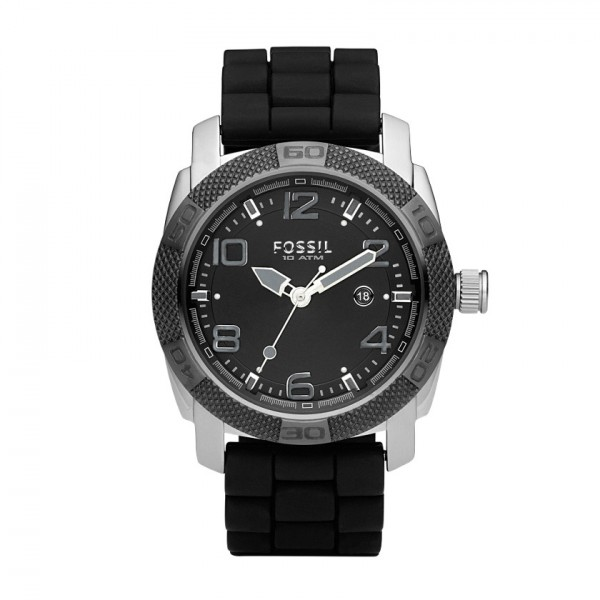 ?Silicone Three Hand Black Dial Watch For Men / Promotional prod