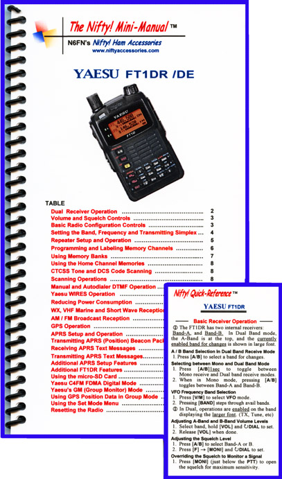 Yaesu FT1DR / FT1XDR Nifty Mini-Manual