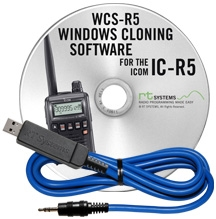 Programming Software and USB-29A cable for the Icom IC-R5 1