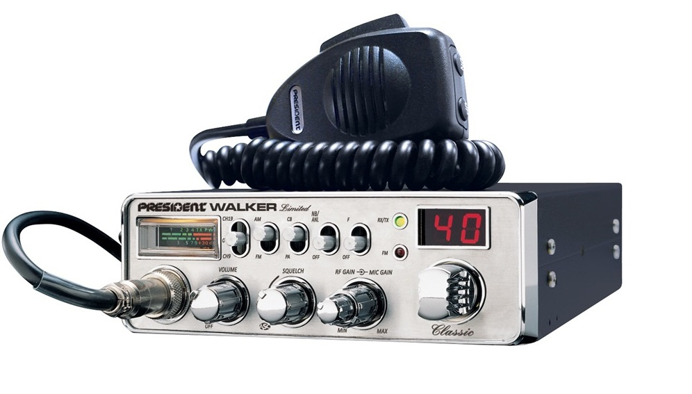 President Walker CB Radio Chrome - Limited Edition