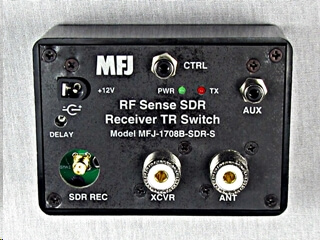 MFJ-1708B-SDR  SDR RF SENSING T/R SWITCH WITH SO-239