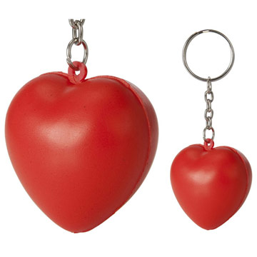 Mini Stress Ball Heart Keyring / Promotional product fully customized  to your requirement UK Supplier