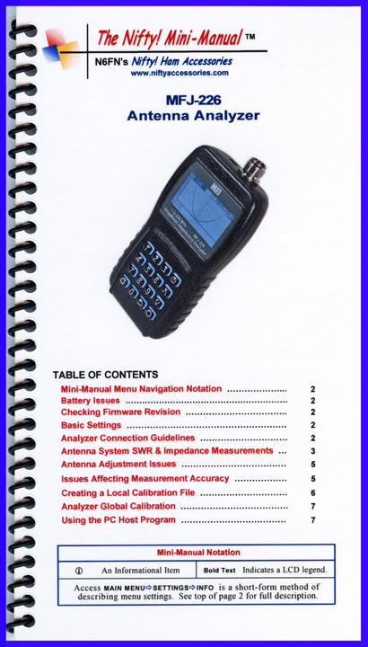 MFJ-226 Nifty Mini Manual