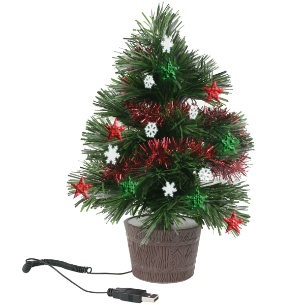 USB LED Computer Desk Christmas Tree / Promotional product fully customized  to your requirement UK Supplier
