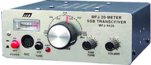 MFJ-9420X 20M SSB Travel Radio with Microphone