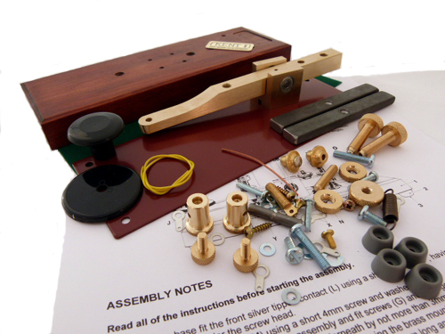HKK Kent Standard Brass Morse Key Kit (with Base)