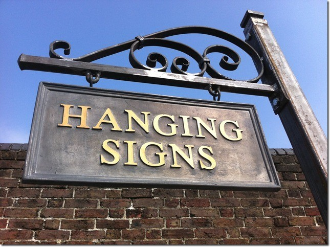 Hanging Lead Signs