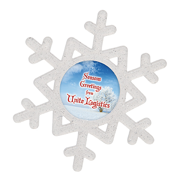 Snowflake Christmas Tree Decoration / Promotional product fully customized  to your requirement UK Supplier