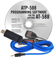 ATP-588 Programming Software and USB-29A cable for the AnyTone A