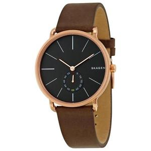 ?Hagen Men's Brown Leather Watch / Promotional product fully cus