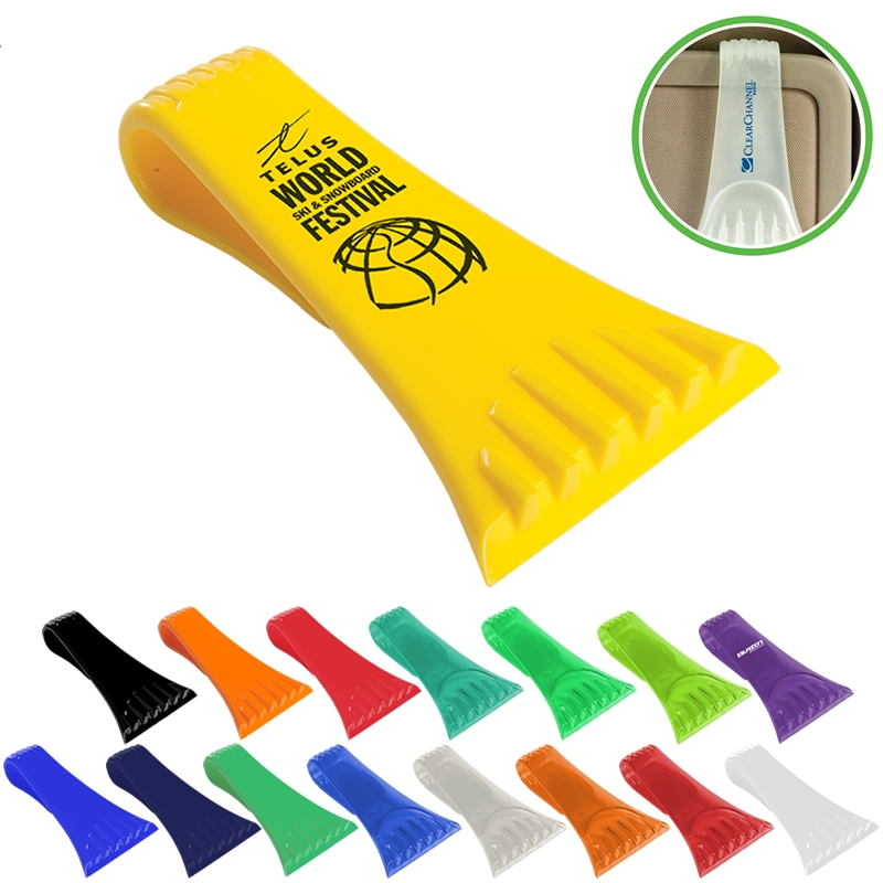 Ice scraper with visor clip  / Promotional product fully customized  to your requirement UK Supplier