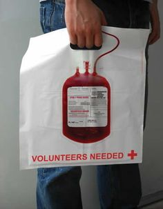 Blood Donor Shopping Bag / Promotional product fully customized  to your requirement UK Supplier
