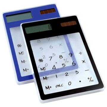 See Through Calculator / Promotional product fully customized  to your requirement UK Supplier