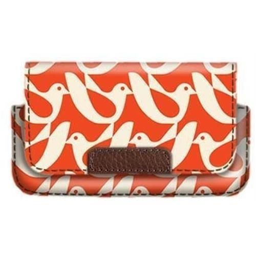 Orla Kiely Case iPhone 3/4/5/ Or Similar - Birdwatch Cream/Red