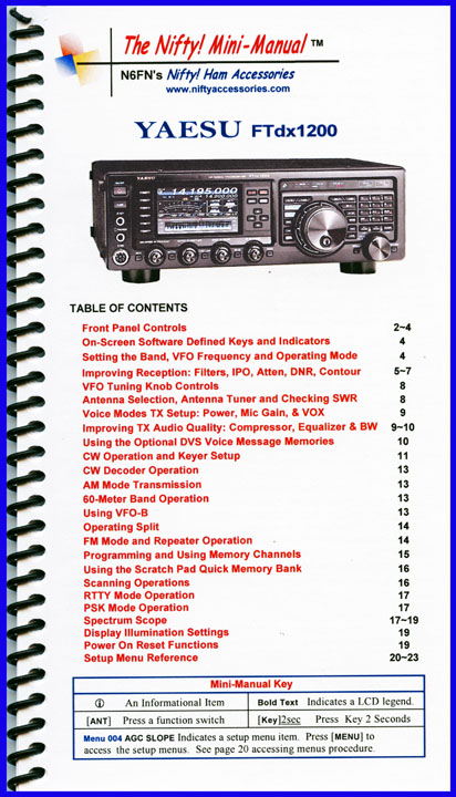 FTdx1200D Nifty Mini Manual