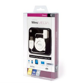 IWIRES CABLE APPLE 30 PIN DOCK TO USB RETRACTABLE