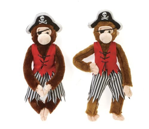Cuddly Pirate Monkey - Fully Customisable Plush