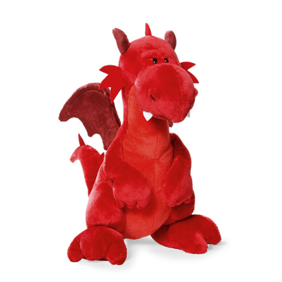 Cuddly Dragon - Fully Customisable Plush (Red)
